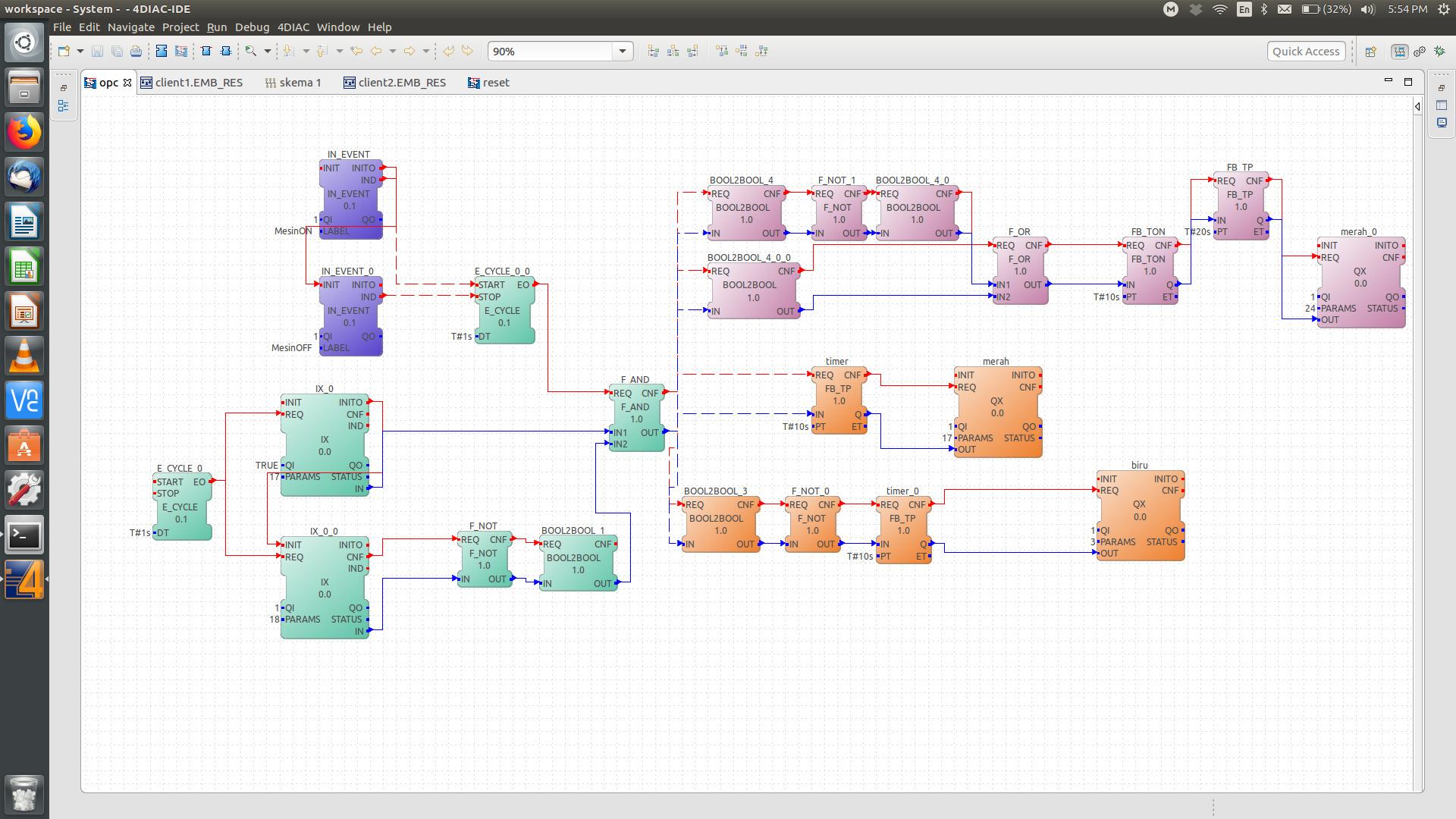OPC UA server Client with raspberry pi (4DIAC IDE) - General